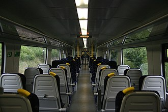 British Rail Class 380 - Image: Scot Rail Class 380 Interior, July 2012
