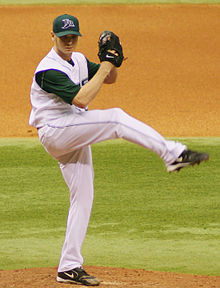 Kazmir pitching for the Tampa Bay Devil Rays in 2006