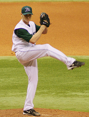 Scott Kazmir - Kazmir pitching for the Tampa Bay Devil Rays in 2006