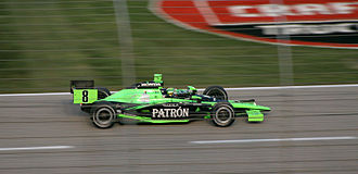 IndyCar Series - Dallara IR05 Indycar chassis driven by Scott Sharp at the 2007 Bombardier Learjet 550 at Texas Motor Speedway.