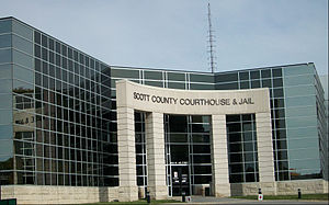 Scott County Courthouse (Iowa) - Entrance built in 2007