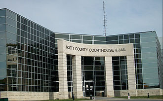 Scott County, Iowa - The newly redesigned courthouse entrance