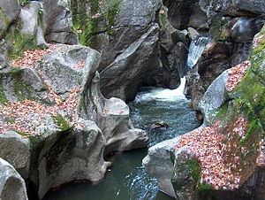 Cockermouth River - Sculptured Rocks on the Cockermouth River