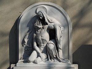 Sculpture in village Jesiona