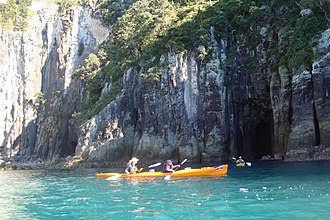 Tourism in New Zealand - Seakayaking from Hahei