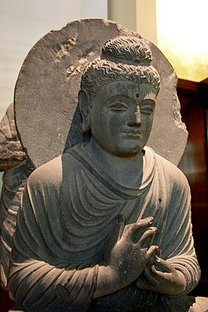 Seated Buddha from Gandhara - Image: Seated Buddha, British Museum 1