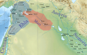 Early Period (Assyria) - A map detailing the location of Assyria within the Ancient Near East c. 2500 BCE.