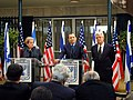 Secretary of State Madeleine K. Albright, Prime Minister Ehud Barak, and Foreign Minister David Levy.jpg