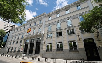 General Council of the Judiciary - Headquarters of the GCJ in Madrid.
