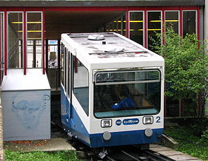 Funicular Rigiblick - Car at lower station