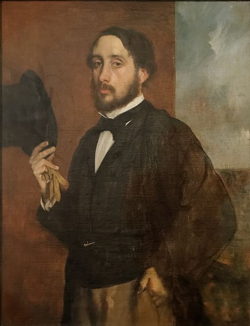 Self portrait or Degas Saluant, Edgar Degas