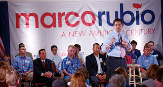Marco Rubio 2016 presidential campaign - Rubio speaking to voters in Salem, New Hampshire.