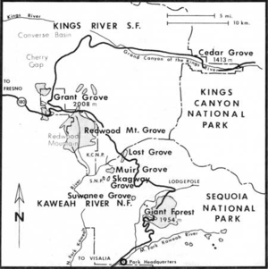 Muir Grove - Map showing location of Muir Grove