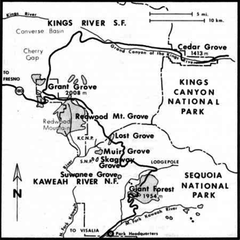 Image Result For Sequoia And Kings Canyon National Park Map