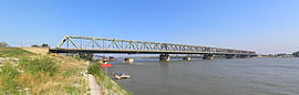 A large bridge spanning a body of water.