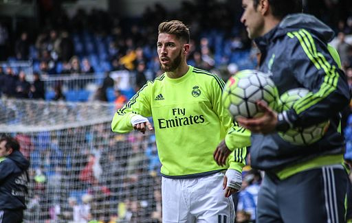 Sergio Ramos entrenando
