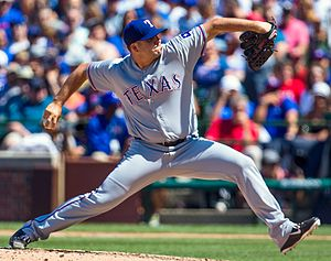 Shawn Tolleson - Tolleson pitching for the Texas Rangers in 2016