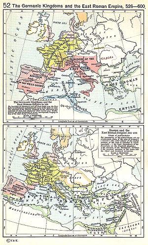 Η Ανατολική Ρωμαϊκή Αυτοκρατορία και ο διεθνής της περίγυρος, 526–600