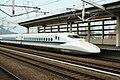 Shinkansen and Himeji Station M9 66.jpg