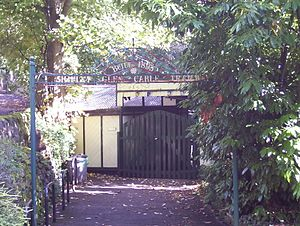 Shipley Glen Tramway - The top entrance to the tramway