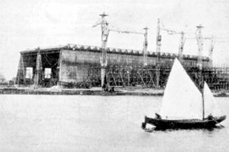 Mykolaiv - Shipyard in Mykolaiv circa 1900.