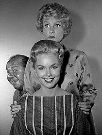 Shirley Bonne Elaine Stritch Stubby Kaye My Sister Eileen 1961.jpg