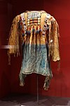 Shirt, Apache, early 20th century, with beads and human hair, view 1 - Glenbow Museum - DSC00561.JPG
