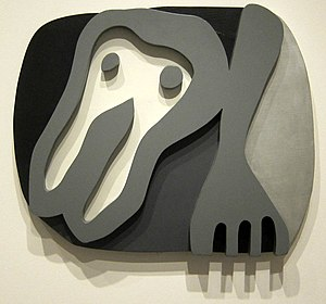 Jean Arp - Shirt Front and Fork, painted wood, 1922, National Gallery of Art