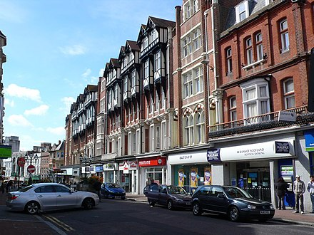 Shops and apartments in the centre of Bournemouth Shops and Apartments, Bournemouth Town Centre - geograph.org.uk - 733547.jpg