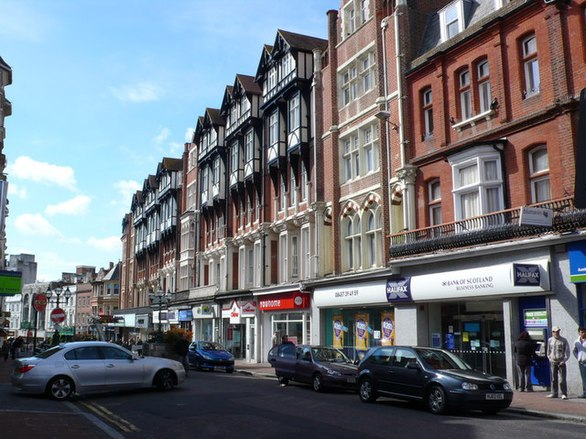 Shops and apartments in the centre of Bournemouth. Shops and Apartments, Bournemouth Town Centre - geograph.org.uk - 733547.jpg