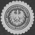 Siegelmarke Der K. Landrat des Kreises Westprignitz W0393776.jpg