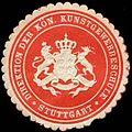 Siegelmarke Direktion der Kön. Kunstgewerbeschule - Stuttgart W0301703.jpg