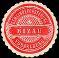 Siegelmarke Gemeindevorstehung Bizau - Vorarlberg W0261000.jpg
