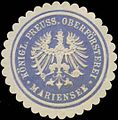Siegelmarke Königl. Preuss. Oberförsterei Mariensee W0323190.jpg