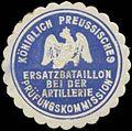 Siegelmarke K.Pr. Ersatzbataillon bei der Artillerie Prüfungskommission W0354069.jpg
