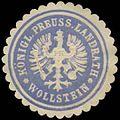 Siegelmarke K.Pr. Landrath Wollstein W0385042.jpg
