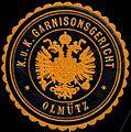 Siegelmarke K.u.K. Garnisonsgericht Olmütz W0317176.jpg