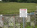 Sign beside the cycleway, Hillend - geograph.org.uk - 1074259.jpg