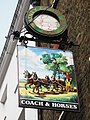 Sign for The Coach and Horses, Wellington Street, WC2 - geograph.org.uk - 1304350.jpg