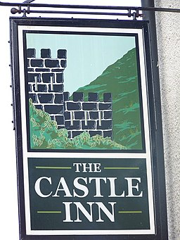 Sign for the Castle Inn, Pengenffordd - geograph.org.uk - 552935