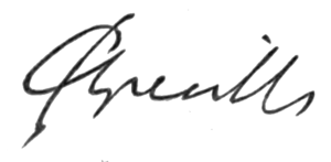 Charles Greville (diarist) - Image: Signature of Charles Greville