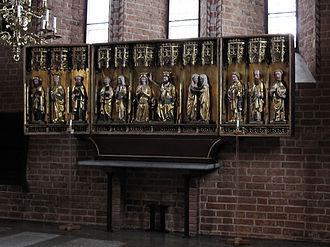St. Mary's Church, Sigtuna - Image: Sigtuna Mariakyrkan Altar triptych
