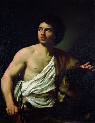 Simon Vouet -  David with the Head of Goliath