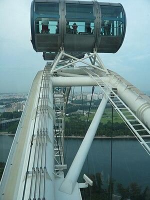 Singapore Flyer - Image: Singapore flyer capsule cu