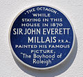 Sir John Everett Millais blue plaque, Devon.jpg