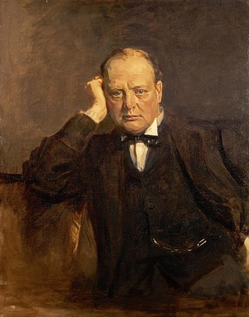 """Sir Winston Churchill, 1874 - 1965. Statesman"" by James Guthrie"