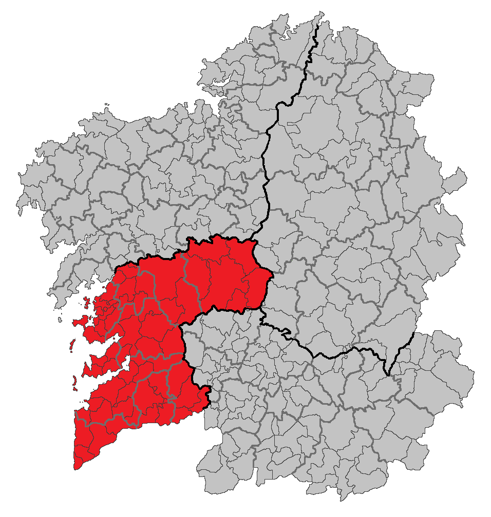 Situacion Provincia de Pontevedra