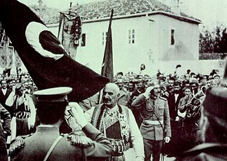 Siege of Scutari (1912–13) - Ottoman flag surrendered to Montenegrin king Nicholas