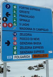 Ski slope and cablecar signs madonna campiglio.JPG