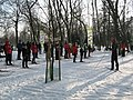 Skiing in Piłsudski Park in Łódź, January 2017 02.jpg